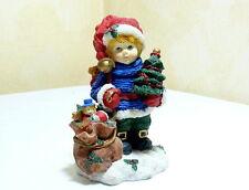Adviento De Navidad Figura , Niño con Árbol De Navidad y Regalos , Aprox. 15 cm