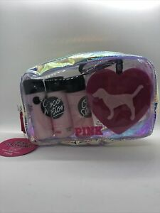 Victoria's Secret Pink Coconut Oil Body Care Gift Set Bag Lotion Body Wash NWT