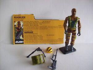 GI JOE 1988 Roadblock: Heavy Machine Gunner v3 (Tiger Force) w/ File Card
