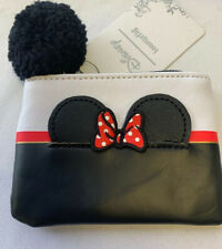 Nwt Loungefly Disney Minnie Mouse Coin Purse Zipper Pom Pom Pull