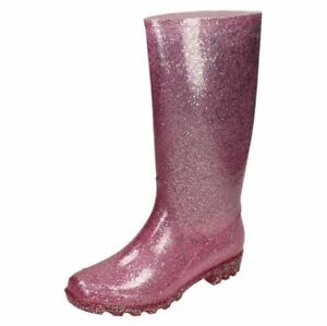 Spot On Ladies Glitter Wellingtons