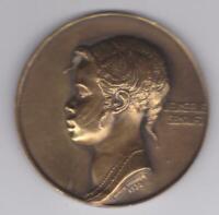 RARE French Art Nouveau Deco African Senoufo Woman Medal, Emile Monier 1930