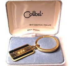 COLIBRI 18kt GOLD ELECTROPLATE KEY RING KEY FOB NEW IN ORIGINAL BOX  ESTATE