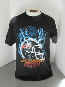 2001 XFL Football Inaugural Season Black T-Shirt Hanes Size Large
