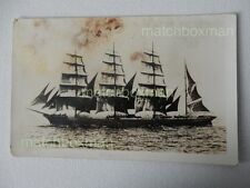 More details for moshulu sailing ship 4-masted barque launch 1904 k ltd real photo postcard mfm11