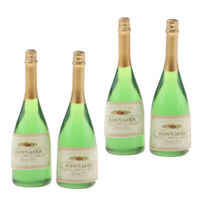 4Pack Dollhouse Miniature Wine Bottles Champagne Drink Bottles 1/12 Scale