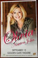 Olivia Newton John JSA Hand Signed 11x17 Concert Poster Golden Gate Autograph