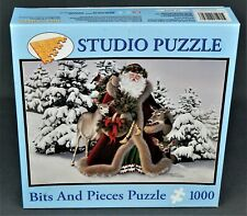 """FROM STUDIO PUZZLES, A BEAUTIFUL1000pc Pc PUZZLE""""WOODLAND FATHER CHRISTMAS"""""""