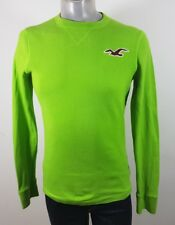 Hollister cotton long sleeve crew neck top Large Fitted