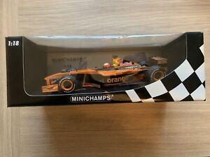 Orange Arrows Aisatech Enrique Bernoldi Minichamps 1:18 diecast formula 1 car