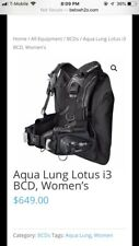 Used Aqualung Women's Lotus I3 BCD, Med/Large, Black/Pink