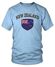 New Zealand Flag Country Pride Crest Soccer All Whites Team Short Sleeve T-Shirt