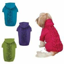 Zack & Zoey - Dog Puppy Sweater - Lucy Ruffle Hoodie - Purple - XS