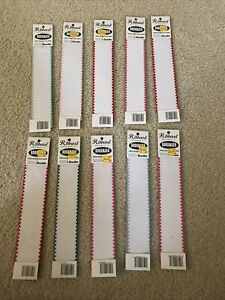 Lot of 10 Ribband Bookmarks by Bucilla - NEW