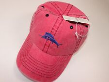 NWT TOMMY BAHAMA One Size Men's Time Worn Red Embroidered LOGO Baseball Hat
