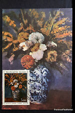 VASE DE FLEURS 1972 CARTE MAXIMUM MONACO Premier Jour 1° FDC Yt 886