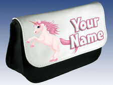 PINK UNICORN PERSONALISED LADIES / GIRLS KIDS MAKE UP BAG /PENCIL CASE /DS -GIFT