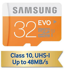 GENUINE Samsung 32GB Evo microSD SDXC 48MB/s Class10 MEMORY CARD LG V10,Note4/5