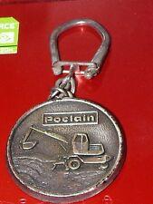 ANCIEN PORTE CLE   POCLAIN  PELLETEUSE GRUE * METAL LEGER egm dijon / KEYCHAIN