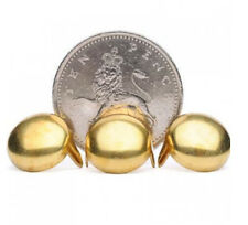 Large Gold Round Dome Shiny Studs Pack 25 STUDS VINTAGE PUNK ROCK CLOTHES