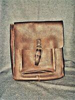 VTG Gap Thick Brown Leather Messenger Bag Shoulder Bag Briefcase Backpack EUC