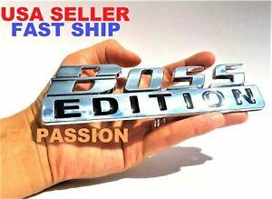 BOSS EDITION Chrome Fit All Models Truck Logo CUSTOM EMBLEM Bumper Birthday Idea