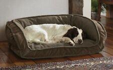 Orvis Memory Foam Fleece Lined Deep Dish Dog Bed SMALL Cozy NEW Mocha Brown
