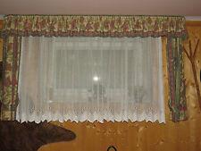 2 x Kompletset Gardinen Vorhang u. Bordüre