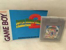 Super Mario Land 1 para Nintendo Gameboy Juego + Instrucciones - 6 monedas de oro