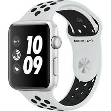 Apple Watch Nike+ S3 42mm GPS Only Silver Case Platinum Black band MQL32LL/A