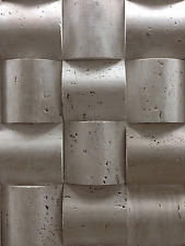 Travertine marble Cream Chamber 10 X 10  Split-Faced Mosaic Tile