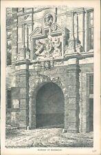 Antique Architects Print Gateway at Dordrecht 1884 The Building News