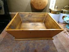 New Primitive Wooden Box Tray Display Mustard Color Distressed Antique Style