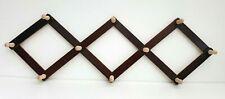 Wooden Folding Wall Hanger 10 Peg Coat Rack Hat Closet Hook
