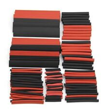 150x Red&Black Ratio 2:1 Sleeving Wire Wrap Assorted Heat Shrink Tubing Tube Kit