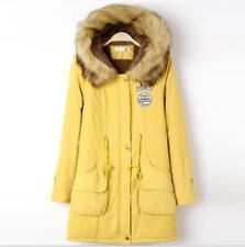 Womens Warm Coat Fur Collar Hooded Jacket Slim Winter Parka Outwear Coats GIFT