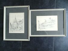 More details for 2x pencil drawings by frank m harvey 1902
