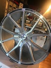"""Asanti ABL 13 one set of staggered 22"""" brushed silver w/ carbon fiber inserts"""