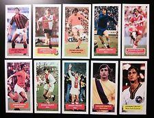 JOHAN CRUYFF - AJAX BARCELONA - Collection of 10 Score trade cards