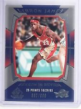 2004-05 UD SP Game Used LeBron James Season in Review #D890/999 #155 *64580