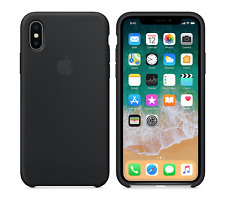 BLACK GENUINE ORIGINAL Apple Silicone Case NEW for iPhone X 5.8""