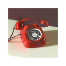 Dolls House 4106 Red Telephone 1:12 for Dollhouse New! #
