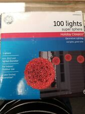 "Holiday Classics 100 Lights Super Sphere 6"" in diameter, New in Box"