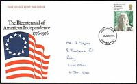FDC - G.B. 1976 Bicentennial of American Independence 1776-1976 First Day Cover