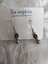 Lia Sophia Pearl   Silver Earring