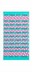 "Betsey Johnson 100% Cotton Beach Towel Skull 35x66"" Pink Blue Pool Swimming"