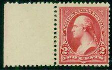US #252 2¢ carmine type III, margin single, og, NH F/VF Miller cert, Scott $400