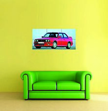 BMW E30 M3 1987 Car Automobile Giant Wall Art New Poster Print Picture