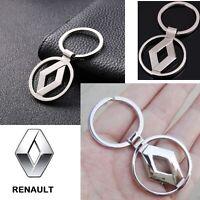 RENAULT Car Reflective Chrome 3D Logo Keychain Metal Keyring Keyfob Key Chain