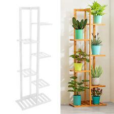 6 Tier Wooden Plant Stand Holder Rack Outdoor Indoor Garden Flower Display Shelf